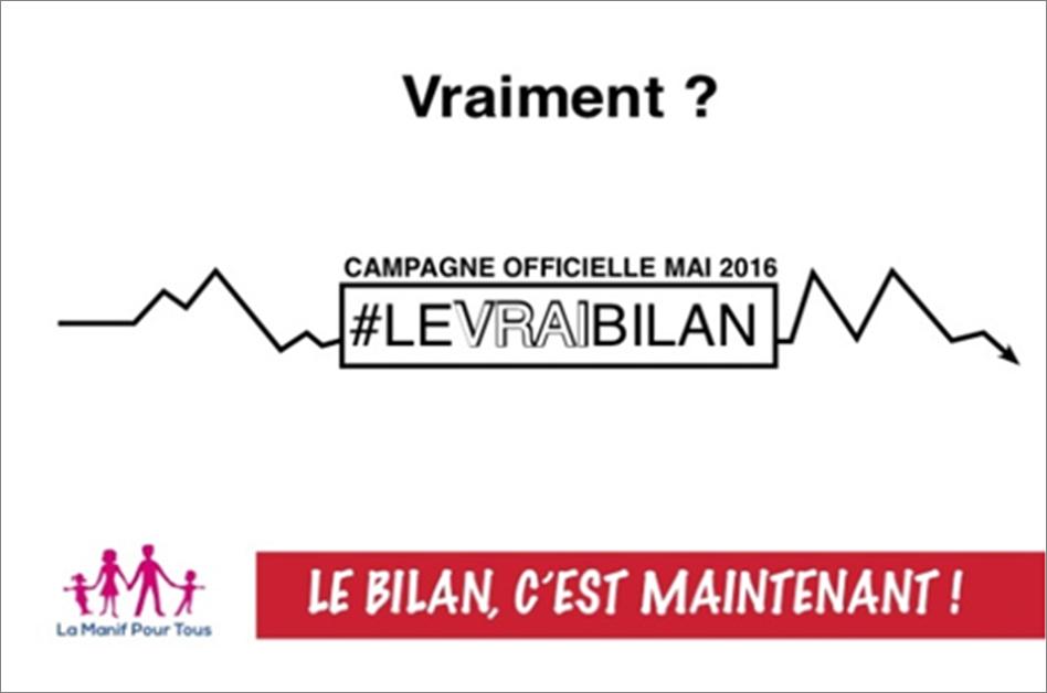 """Image - VIDEO – La Manif Pour Tous dévoile """"Le Vrai Bilan de François Hollande"""""""