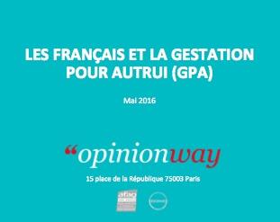 Image - CP – Sondage Opinion Way / La Manif Pour Tous :  les raisons du refus de la GPA par les Français
