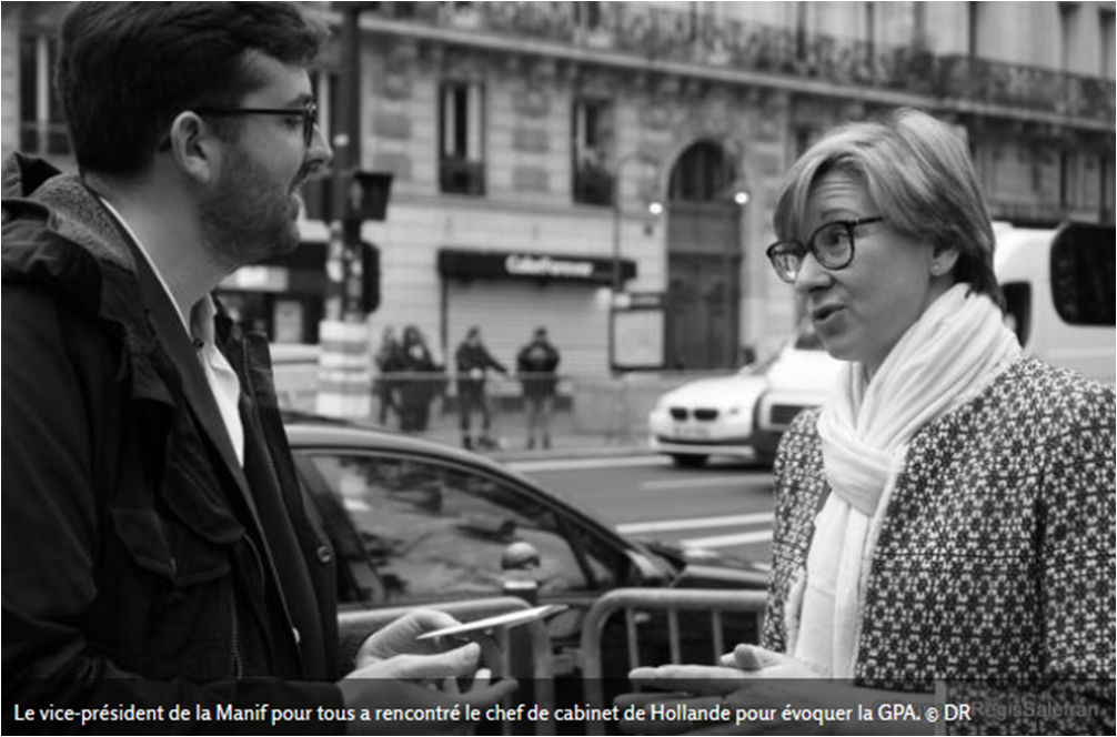 """Image - VALEURS ACTUELLES : """"GPA : Quand la Manif pour tous rencontre le chef de cabinet de François Hollande"""""""