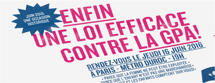 Image - CP – La Manif Pour Tous dans la rue partout en France demain  pour soutenir l'interdiction effective de la GPA