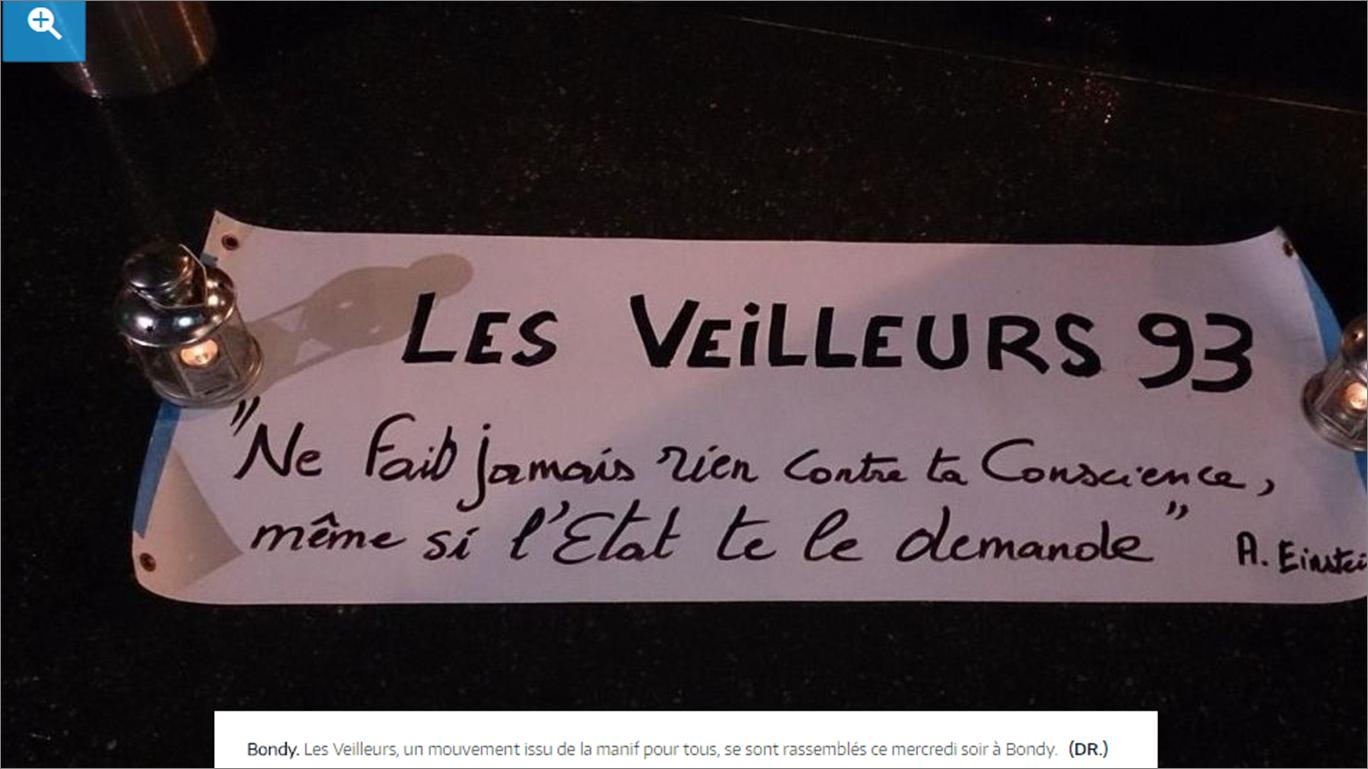 """Image - Lu dans Le Parisien : """"Bondy : une fête organisée par les veilleurs de la manif pour tous"""""""