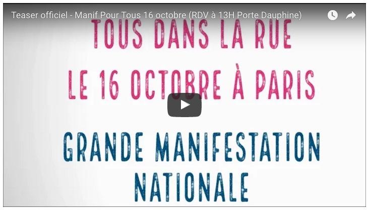 Image - Les teasers vidéo de la manif' du 16 octobre