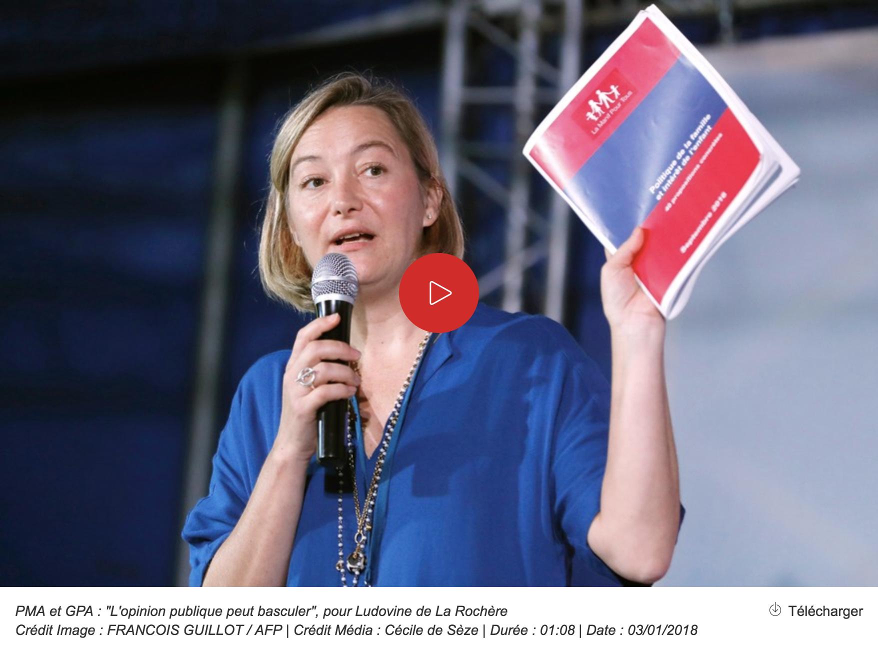 """Image - RTL : """"PMA et GPA : """"L'opinion publique peut basculer"""", selon Ludovine de La Rochère"""""""