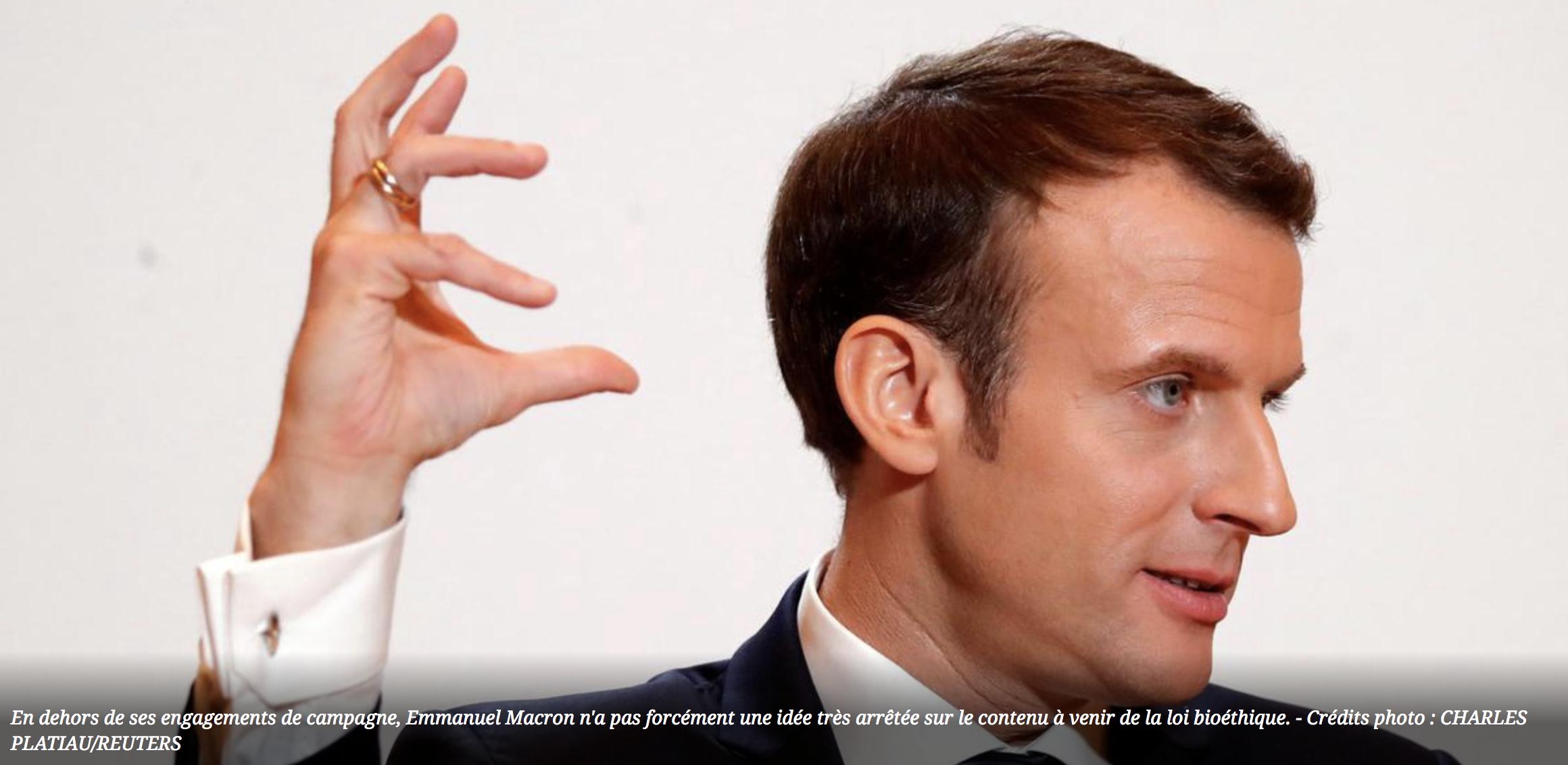 """Image - Le Figaro : """"Bioéthique : Macron veut éviter de reproduire les erreurs de Hollande"""""""