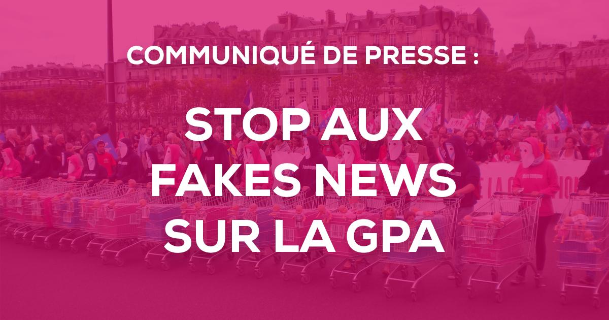 """Image - Communiqué de presse : """"Stop aux fake news sur la GPA"""""""