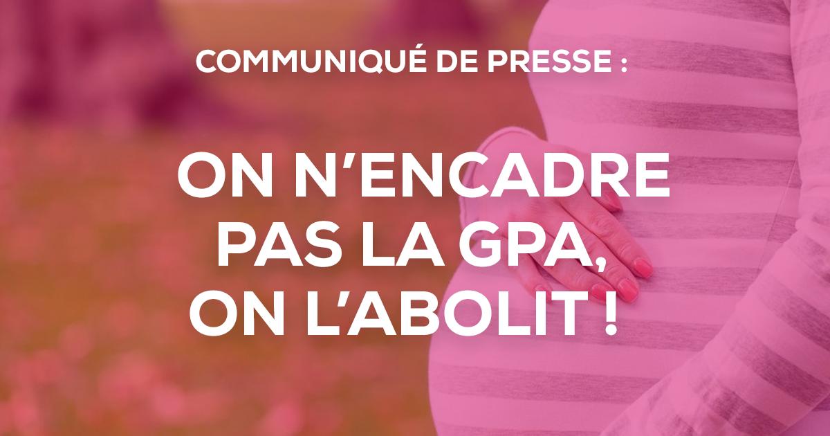 """Image - Communiqué de presse : """"On n'encadre pas la GPA, on l'abolit!"""""""