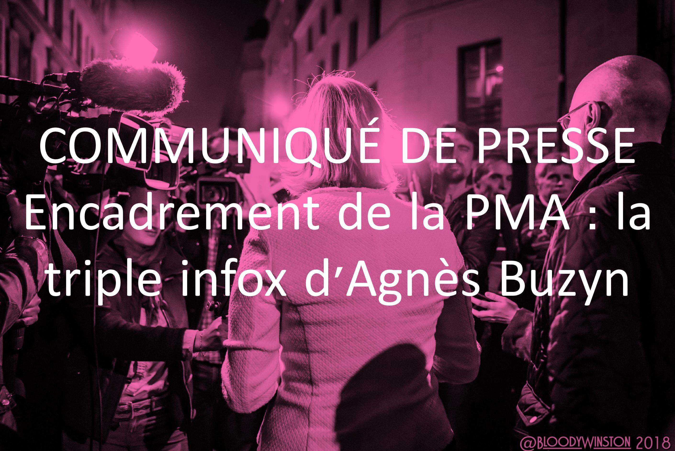 Image - Communiqué de presse – Encadrement de la PMA: la triple infox d'Agnès Buzyn