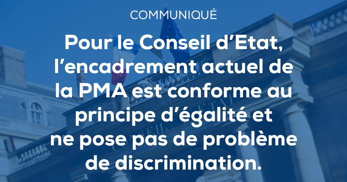 Image - Communiqué de presse – Pour le Conseil d'Etat, l'encadrement actuel de la PMA est conforme au principe d'égalité et ne pose pas de problème de discrimination