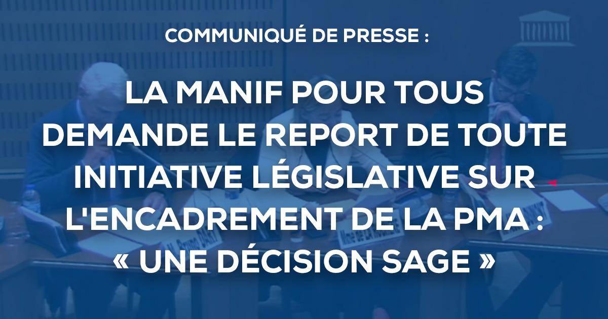 Image - COMMUNIQUE DE PRESSE- Audition de La Manif Pour Tous par l'Assemblée nationale