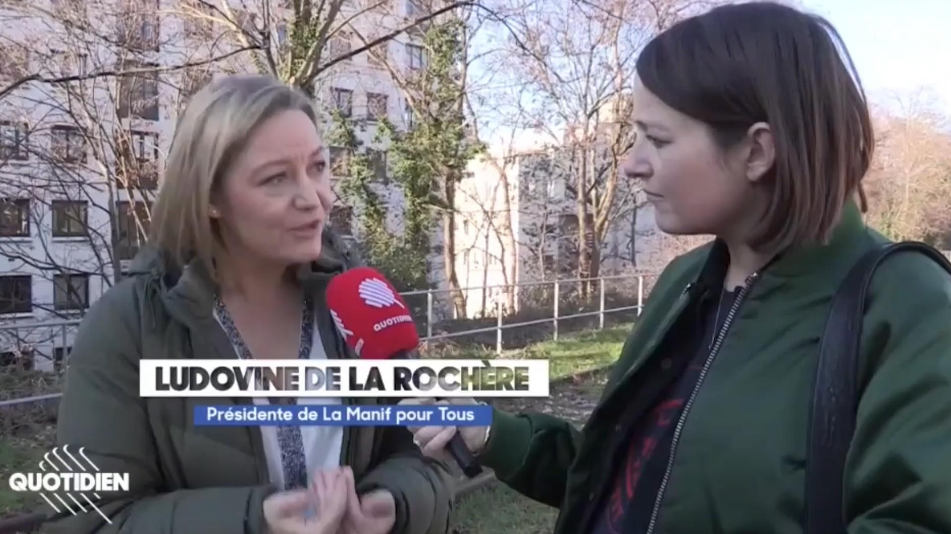 """Image - Ludovine de La Rochère, interviewé pour Quotidien au sujet de l'amendement """"Parent 1 / Parent 2"""""""