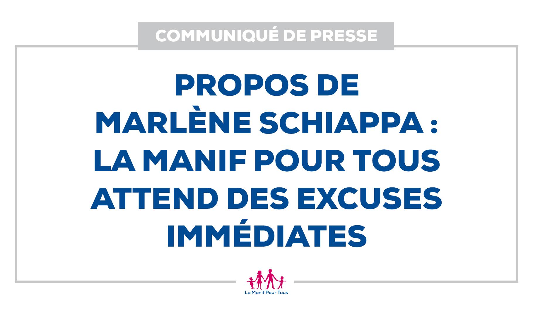 Image - Communiqué – Propos de Marlène Schiappa:  La Manif Pour Tous attend des excuses immédiates