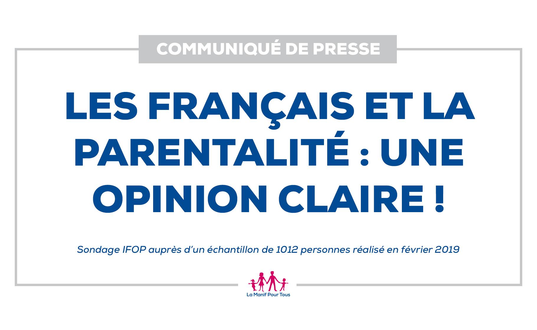 Image - Communiqué – Les Français et la parentalité : une opinion claire ! (Sondage IFOP – février 2019)