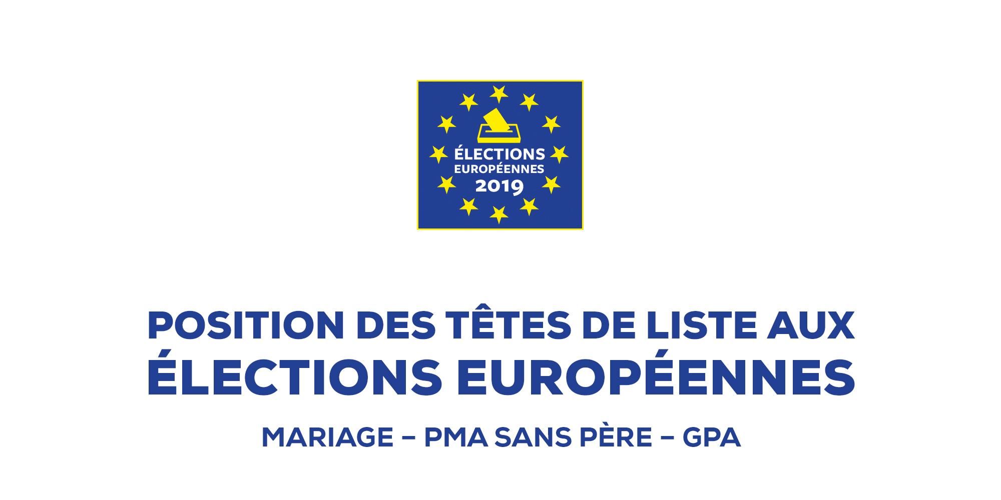 Image - Position des têtes de liste aux Européennes 2019