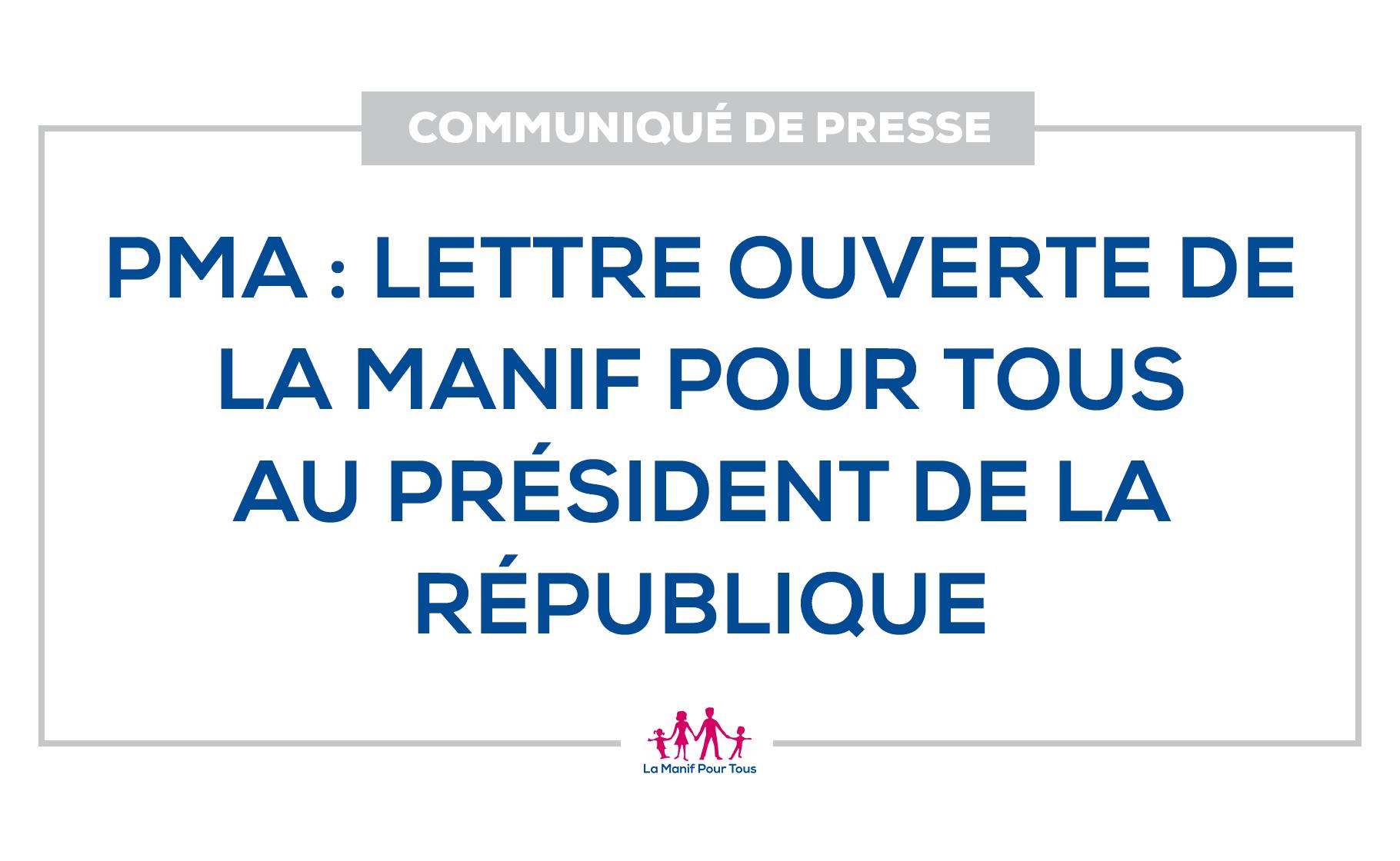Image - Communiqué de presse – Lettre ouverte de La Manif Pour Tous au Président de la République