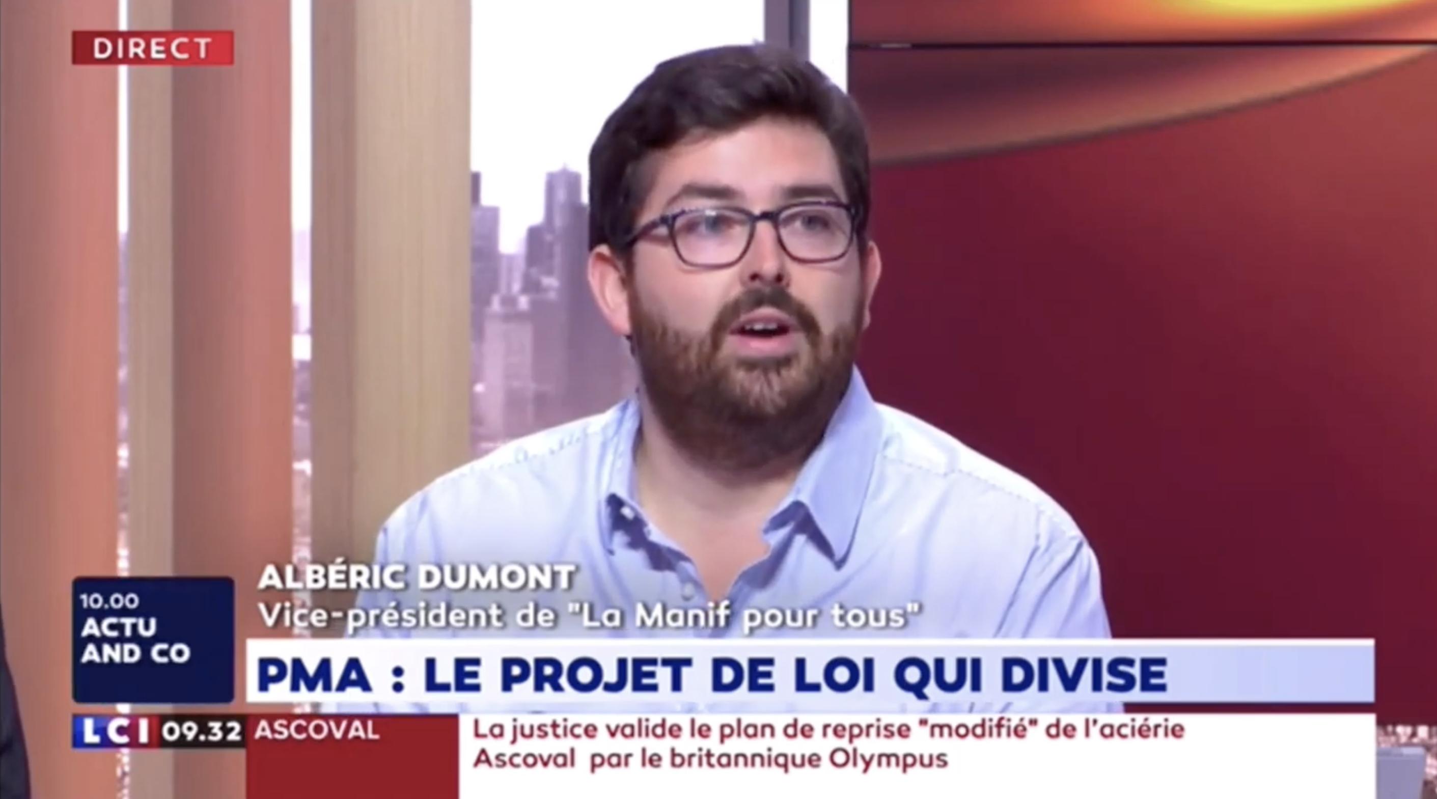 Image - Albéric Dumont sur LCI – 24 juillet 2019
