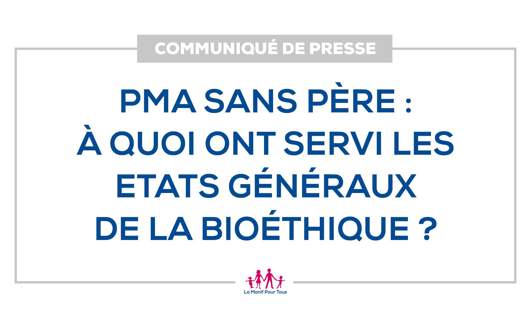 Image - Communiqué de presse – PMA sans père : à quoi ont servi les Etats généraux de la bioéthique ?