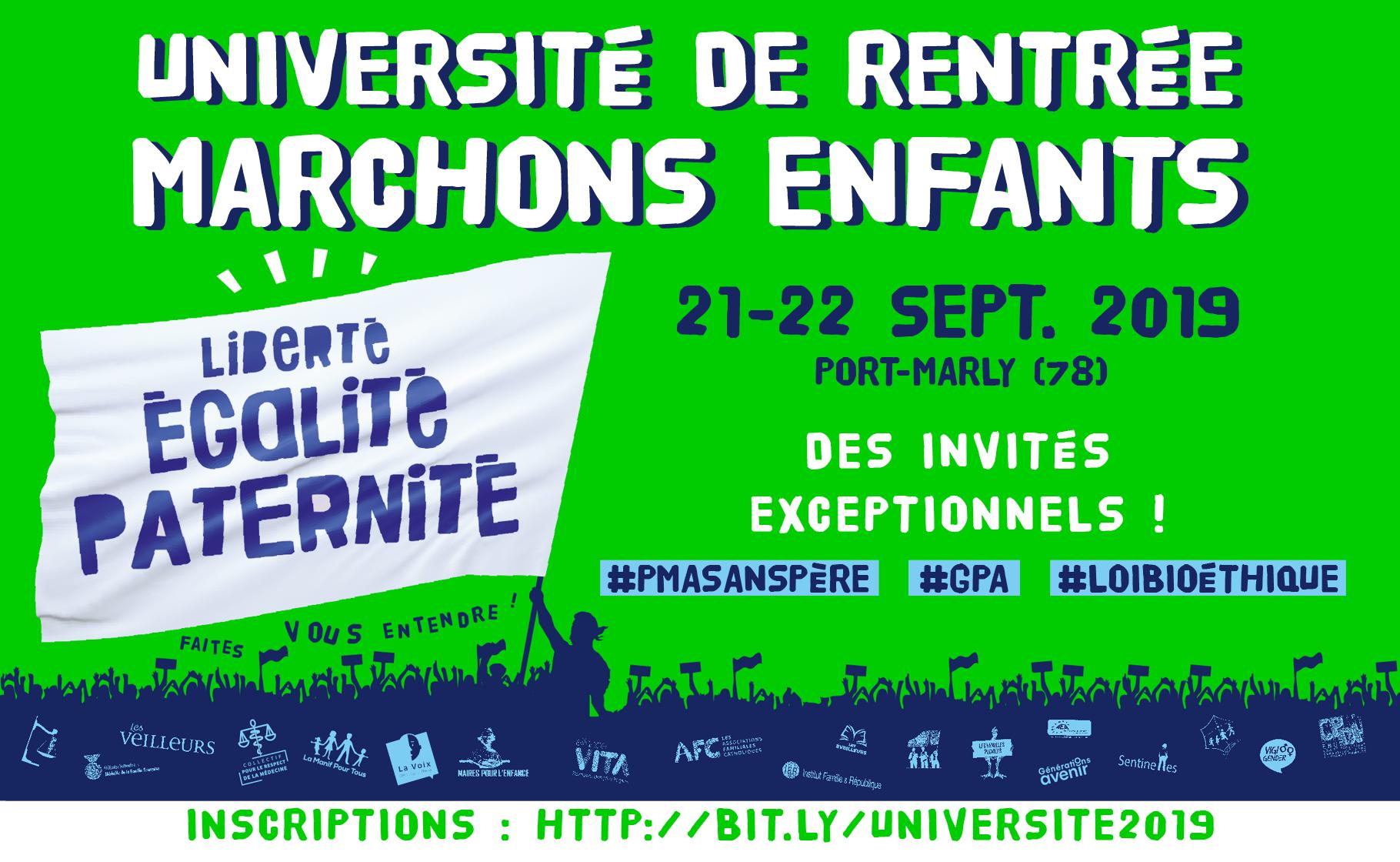 Image - Université de rentrée Marchons Enfants ! : tous en marche vers le 6 octobre