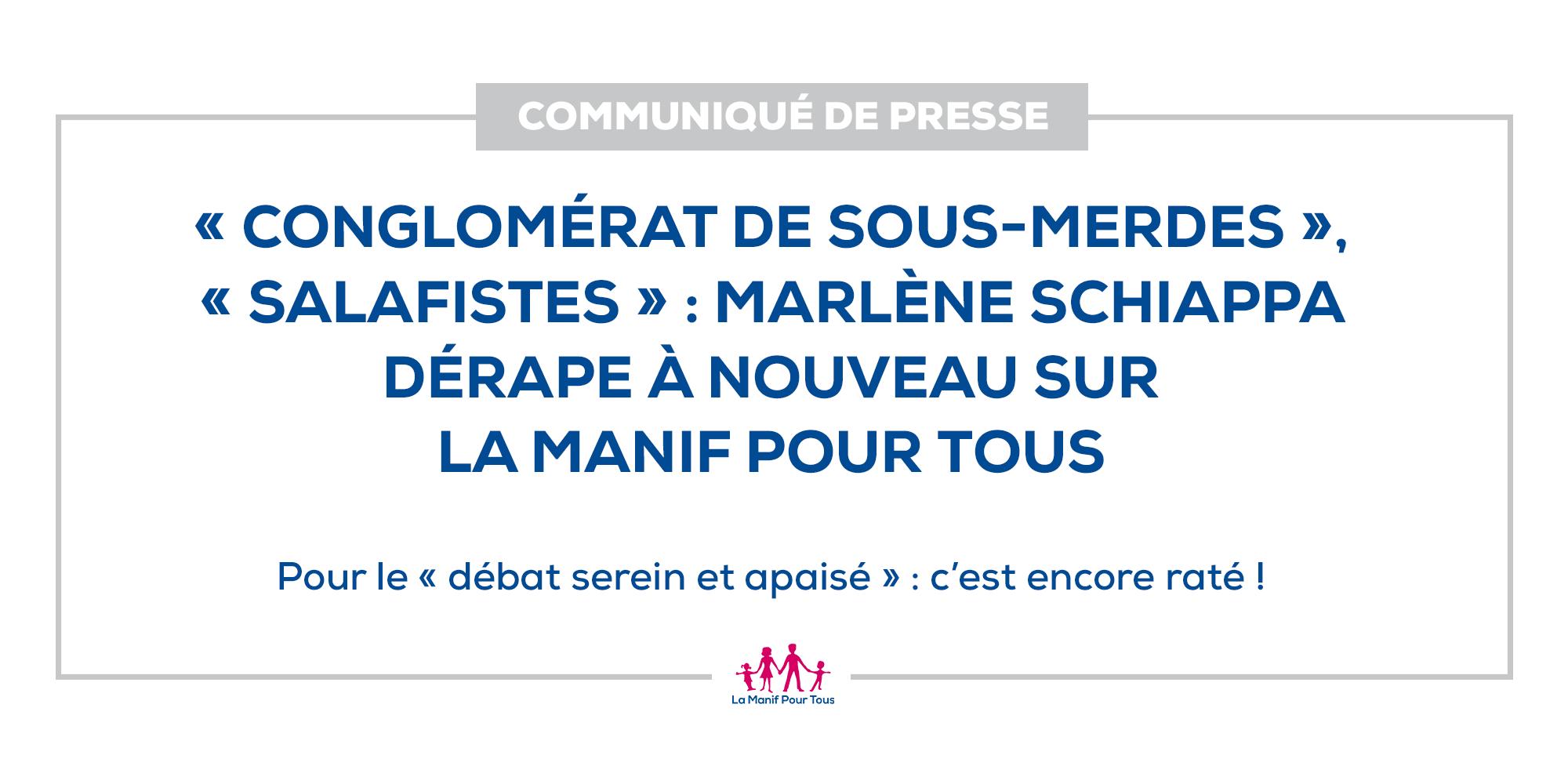 Image - « Conglomérat de sous-merdes », « salafistes » : Marlène Schiappa dérape à nouveau sur La Manif Pour Tous