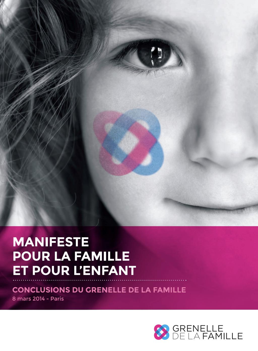 Couverture - Manifeste pour la famille et pour l'enfant