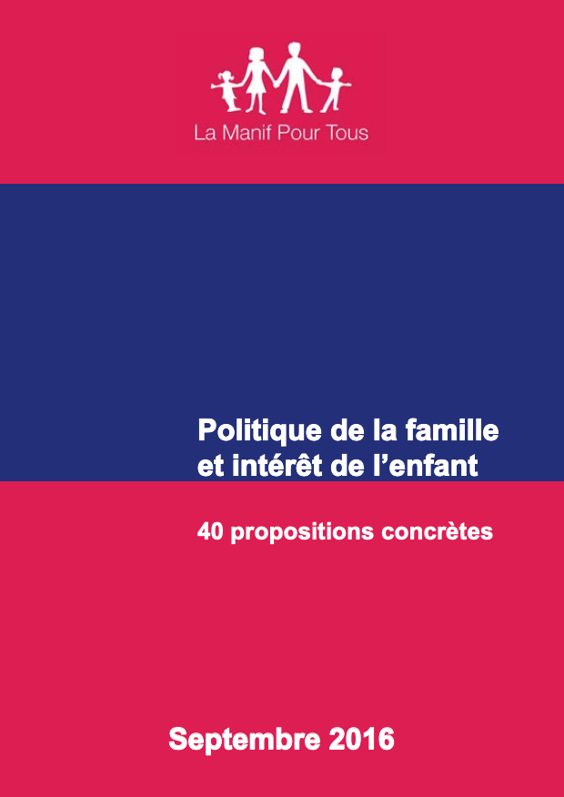 Couverture - Politique de la famille et intérêt de l'enfant