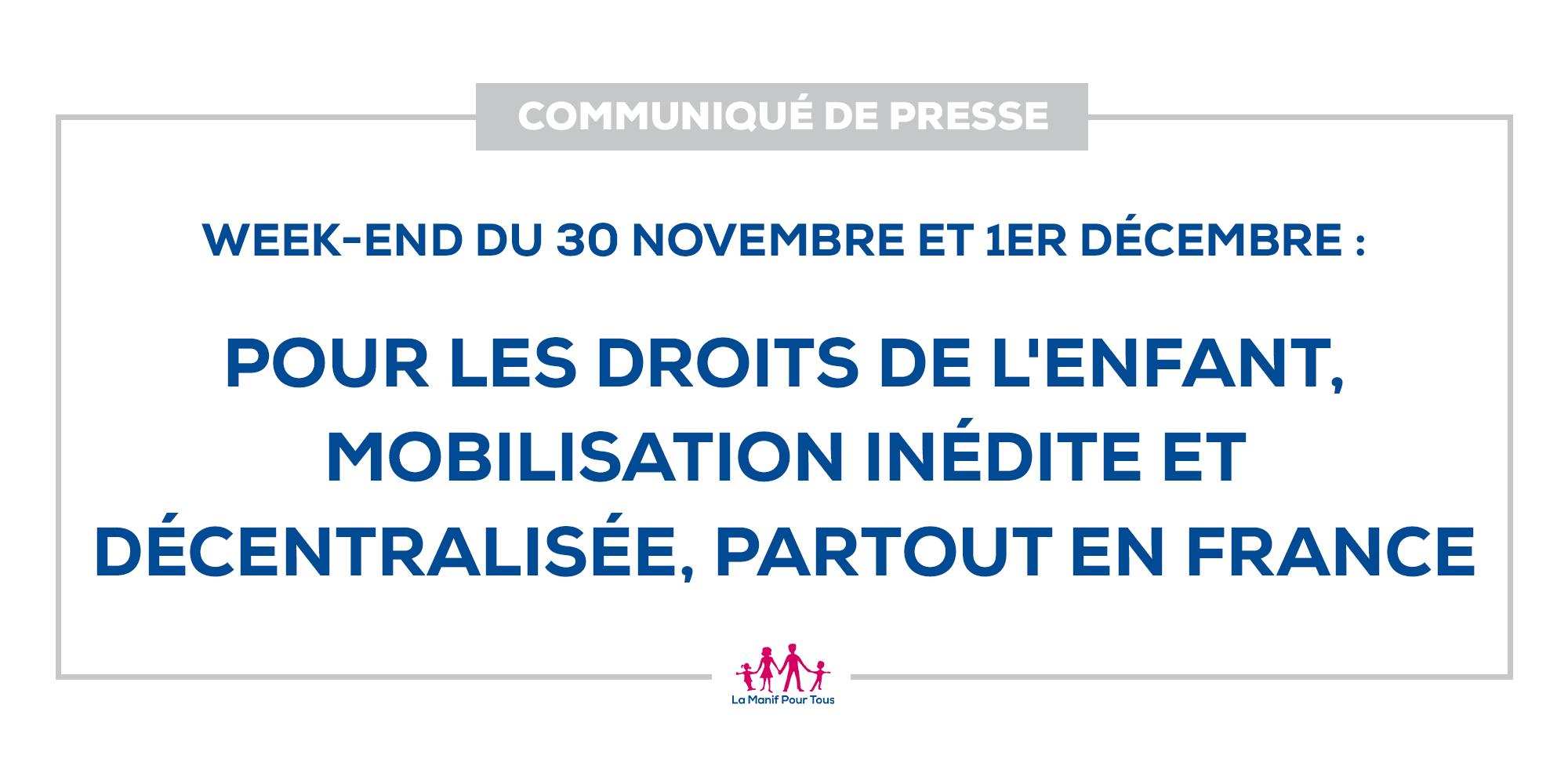 Image - CP – Pour les droits de l'enfant, mobilisation inédite et décentralisée, dans toute la France