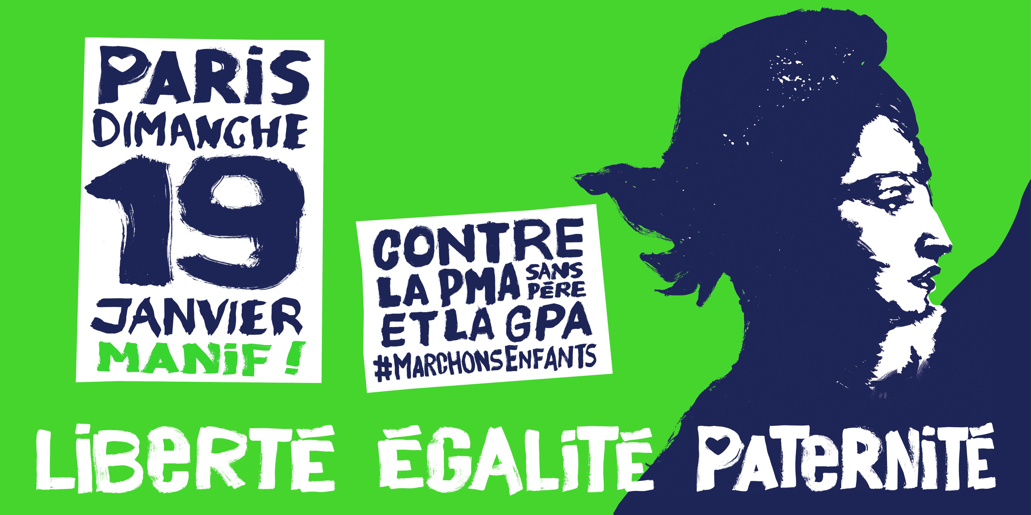Image - Manifestation du 19 janvier contre la PMA sans Père et la GPA