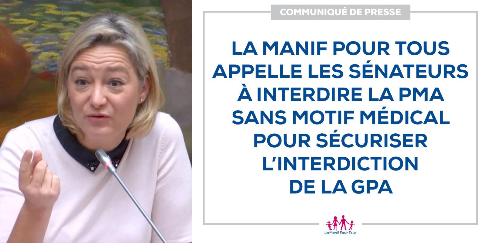 Image - CP – La Manif Pour Tous appelle les sénateurs à interdire la PMA sans motif médical pour sécuriser l'interdiction de la GPA