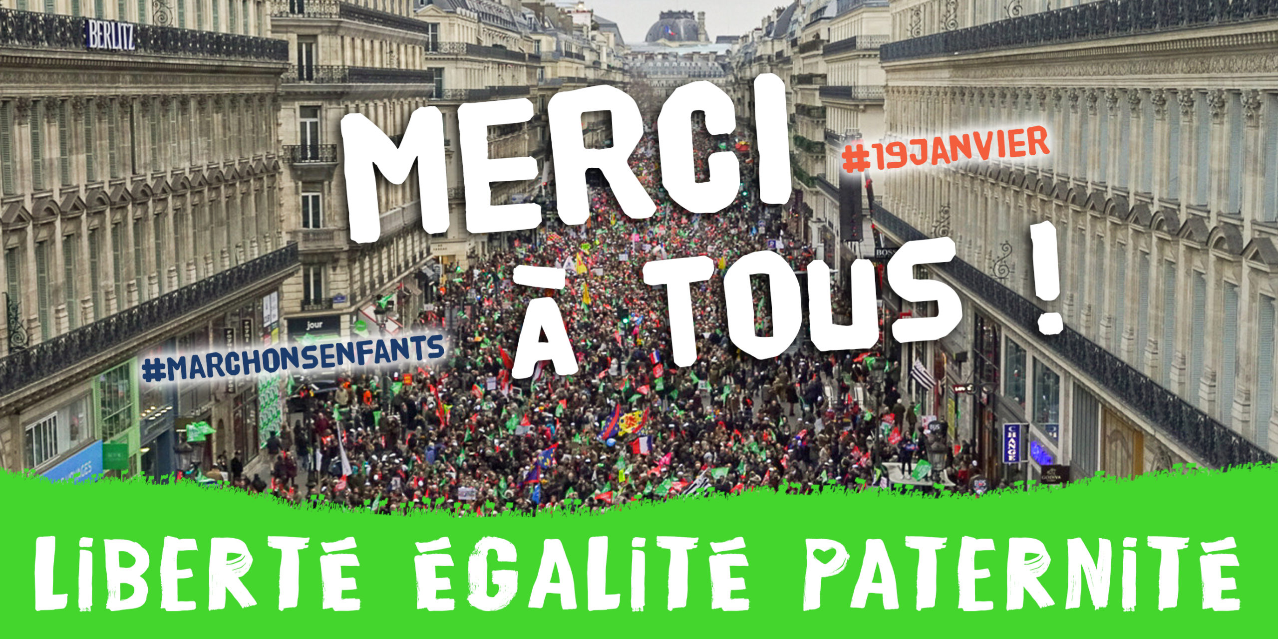 Image - Suivez en direct la manifestation nationale « Marchons Enfants ! » du 19 janvier