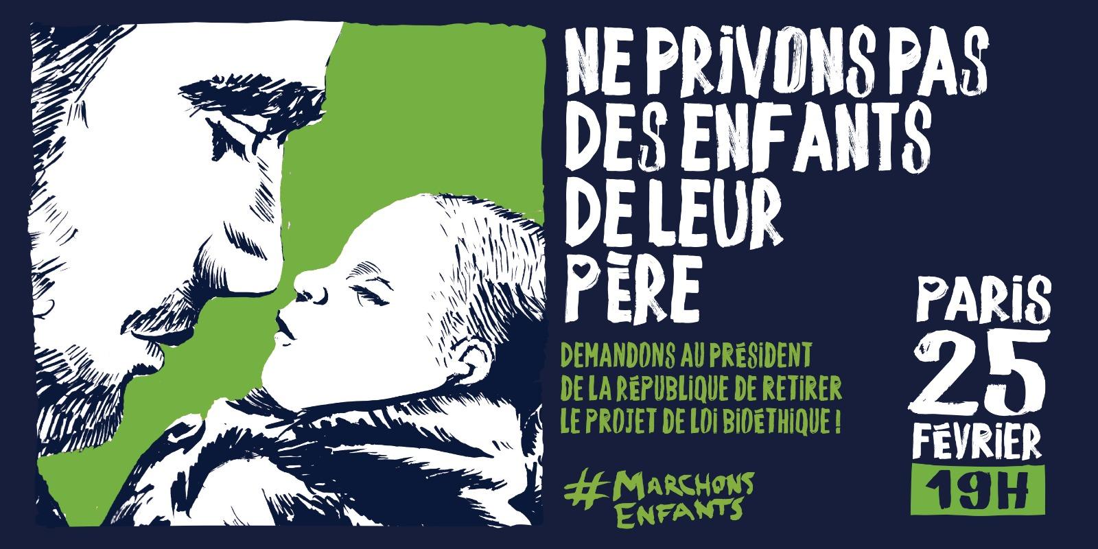 Image - RDV mardi 25 février à 19h, place Clemenceau à Paris, avec Marchons Enfants !