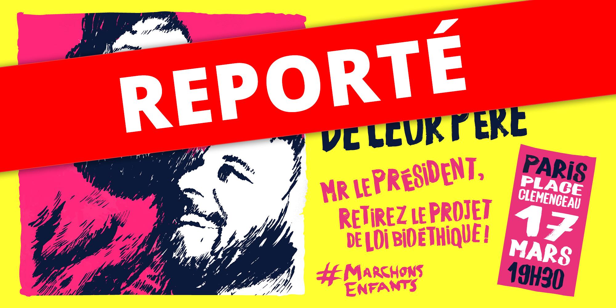 Image - REPORTÉ : Mobilisation Marchons Enfants contre le projet de loi bioéthique !