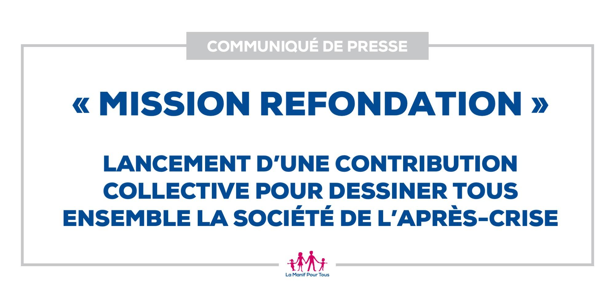 Image - « Mission refondation » : lancement d'une contribution collective pour dessiner tous ensemble la société de l'après-crise