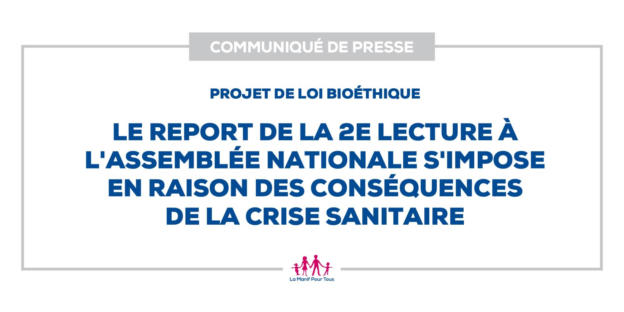 Image - Projet de loi bioéthique : le report de la 2e lecture à l'Assemblée nationale s'impose en raison des conséquences de la crise sanitaire