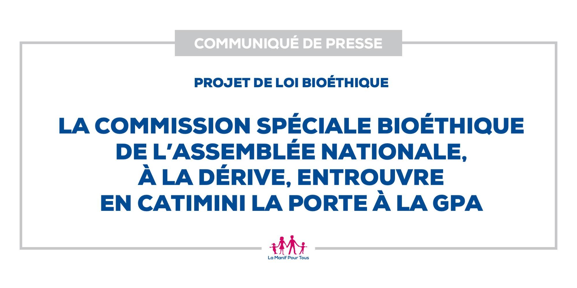 Image - La Commission spéciale bioéthique de l'Assemblée nationale, à la dérive, entrouvre en catimini la porte à la GPA