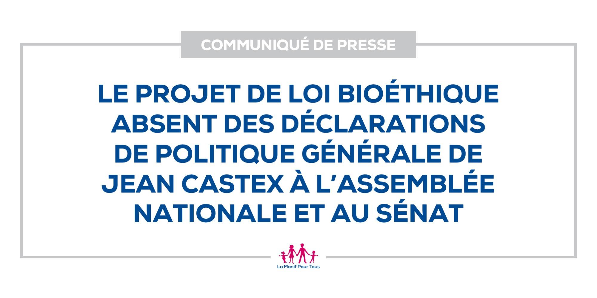 Image - Le projet de loi bioéthique absent des déclarations de politique générale de Jean Castex à l'Assemblée nationale et au Sénat