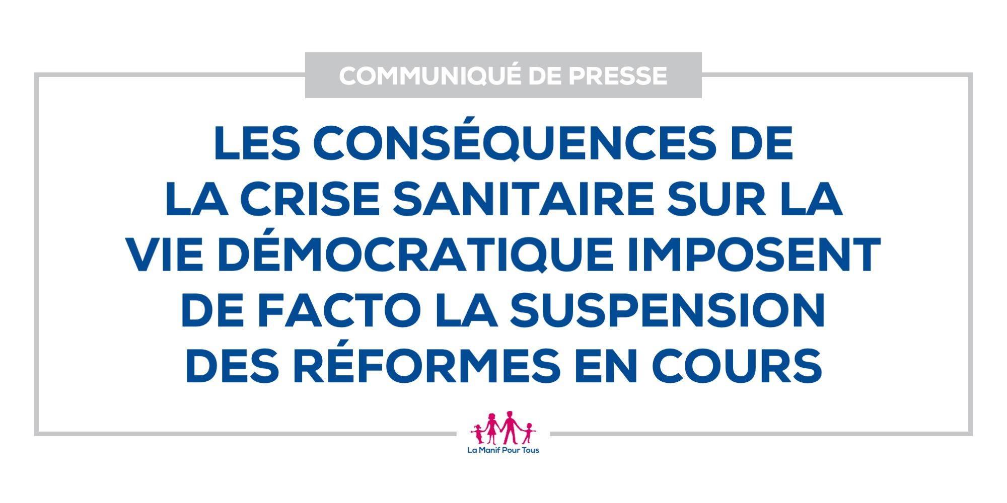 Image - Les conséquences de la crise sanitaire sur la vie démocratique imposent de facto la suspension des réformes en cours