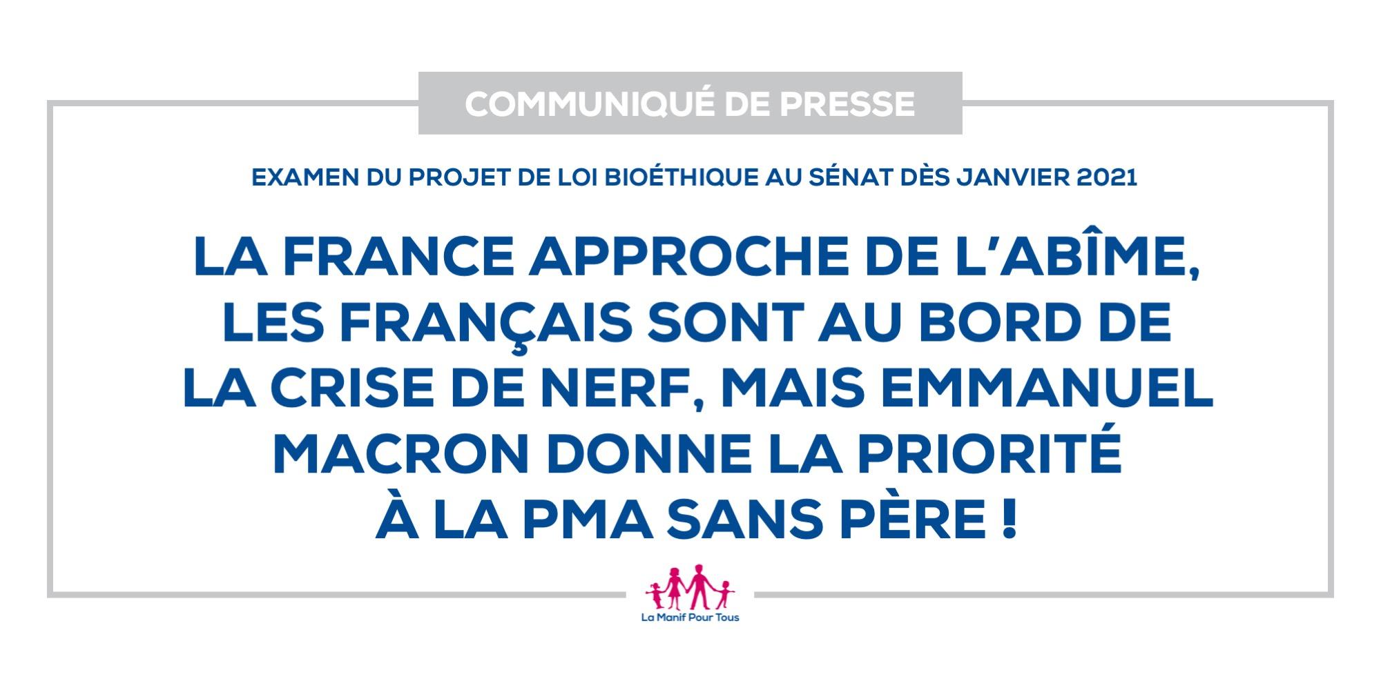 Image - La France approche de l'abîme, les Français sont au bord de la crise de nerf, mais Emmanuel Macron donne la priorité à la PMA sans père !