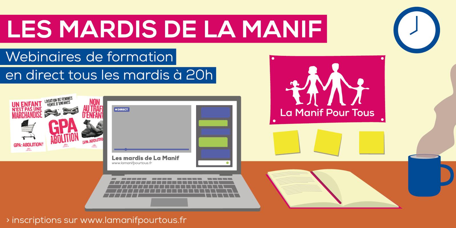 Image - Les mardis de La Manif : webinaires de formation