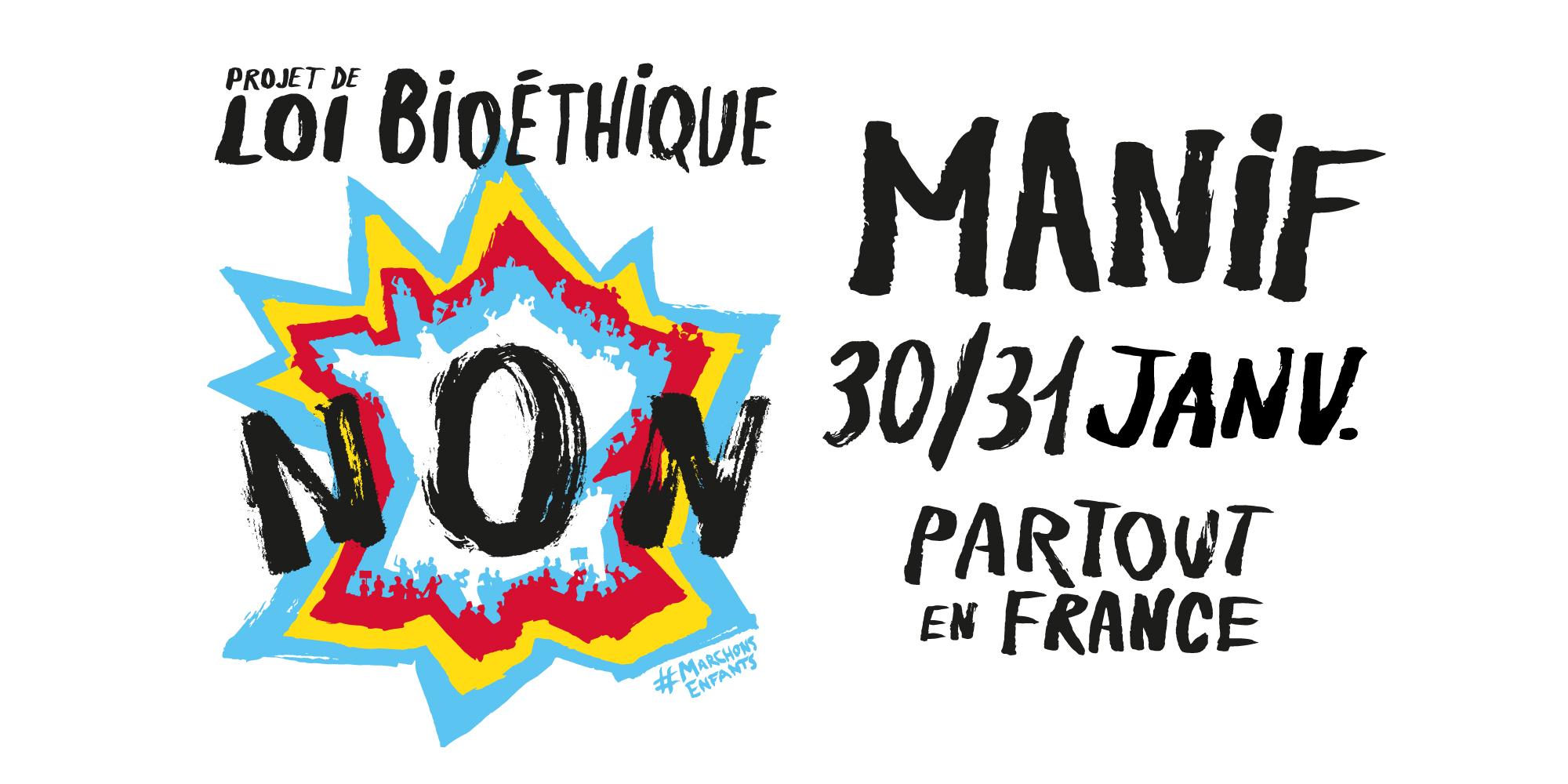 Image - 30 et 31 janvier : Manifestations « Marchons Enfants » partout en France contre la PMA sans père, la GPA et le projet de loi bioéthique