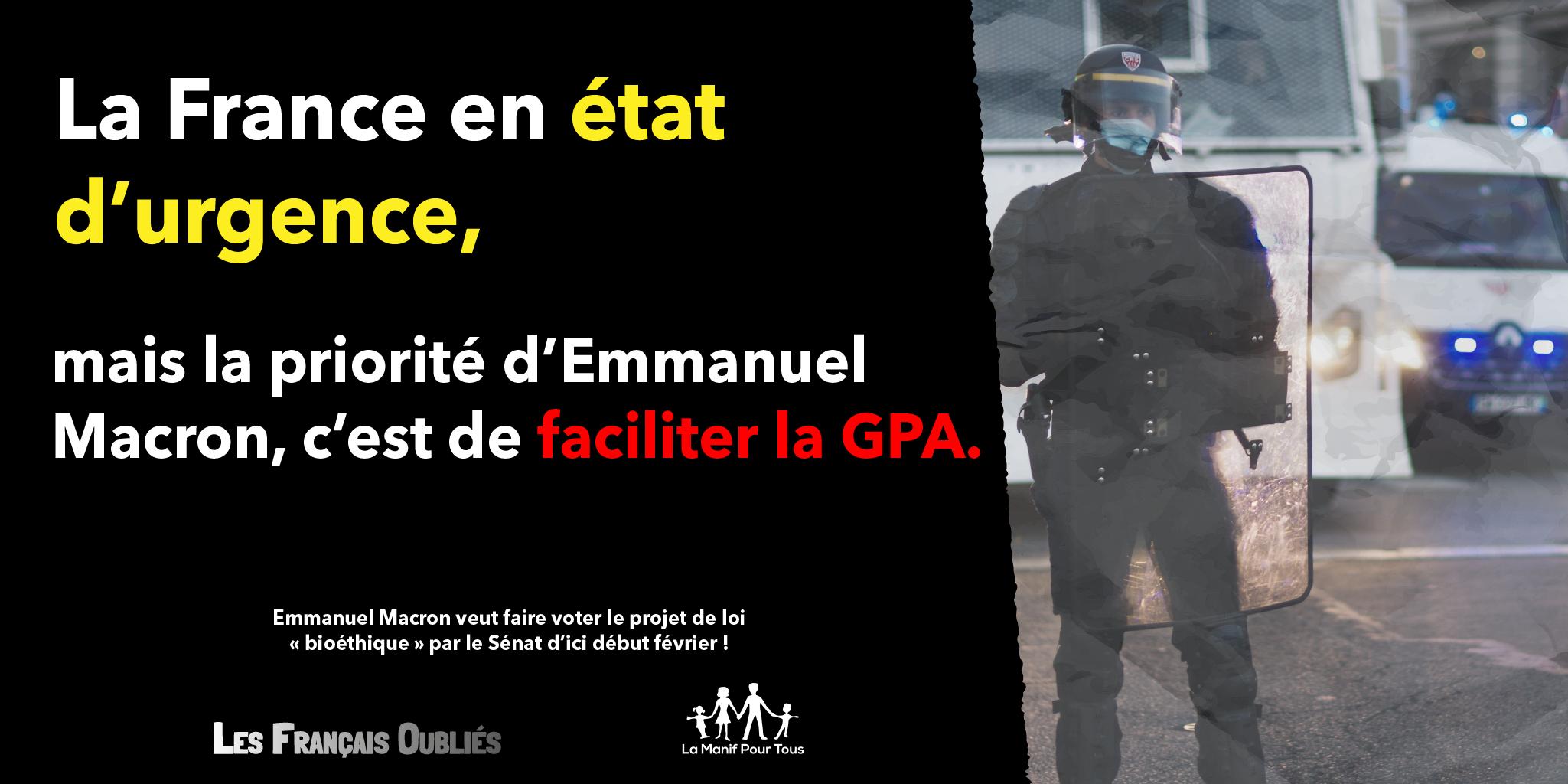 Image - Crise sanitaire, économique et sociale : la priorité d'Emmanuel Macron c'est le projet de loi bioéthique !