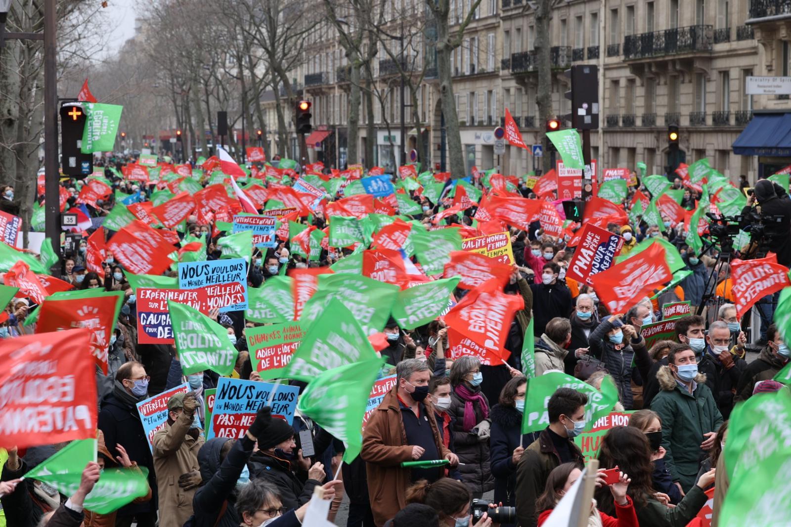 Image - Manifestation réussie à Paris contre le projet de loi bioéthique