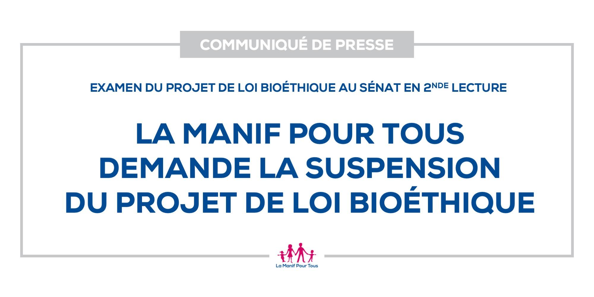 Image - La Manif Pour Tous demande la suspension du projet de loi bioéthique