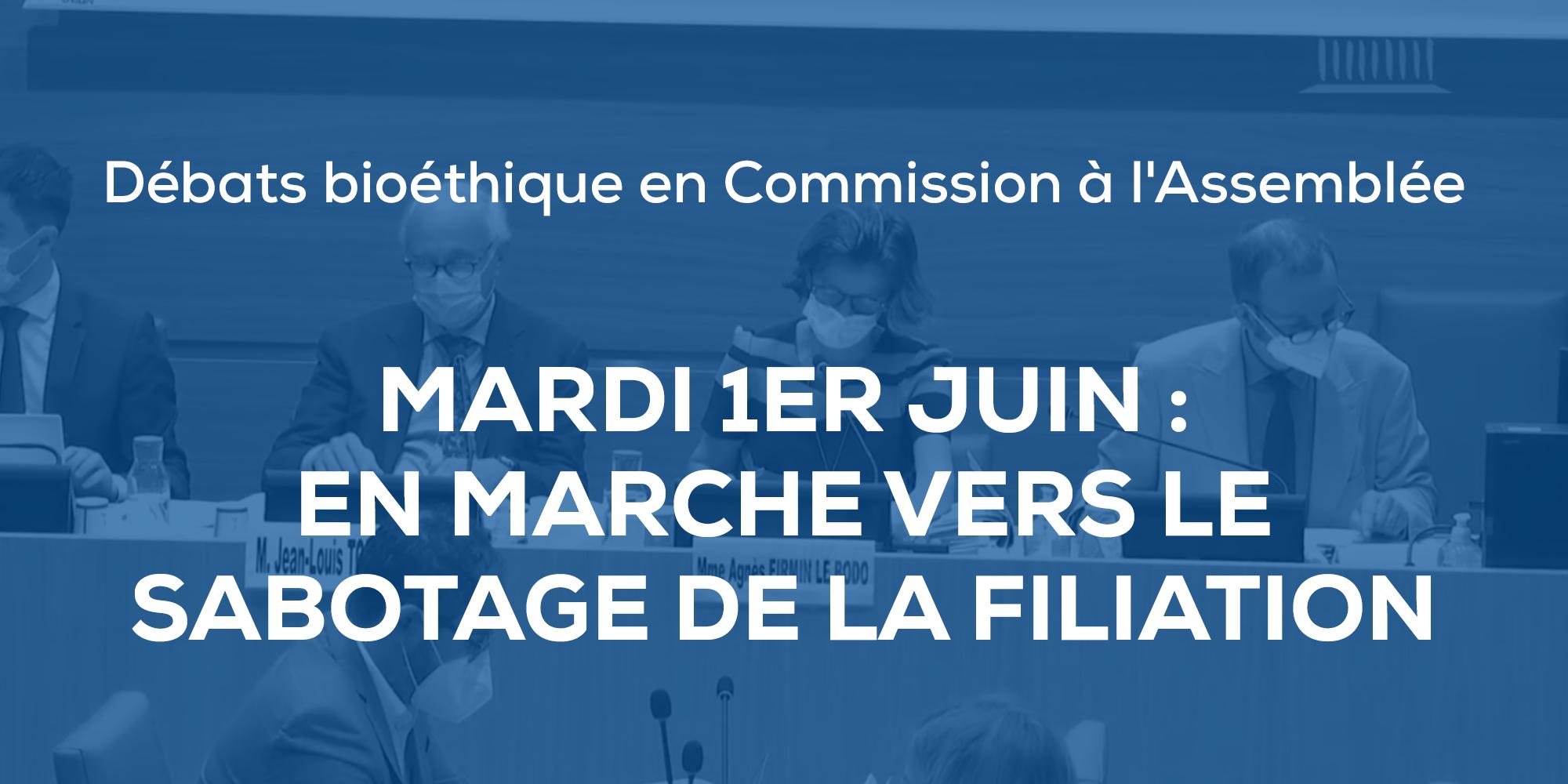 Image - Mardi 1er juin, débats bioéthique en Commission à l'Assemblée