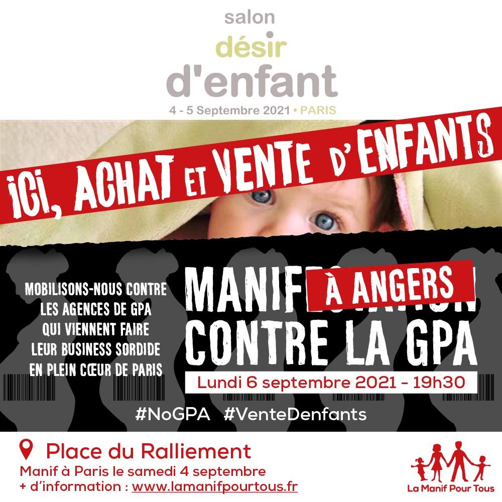Image - Manifestation à Angers contre la GPA !